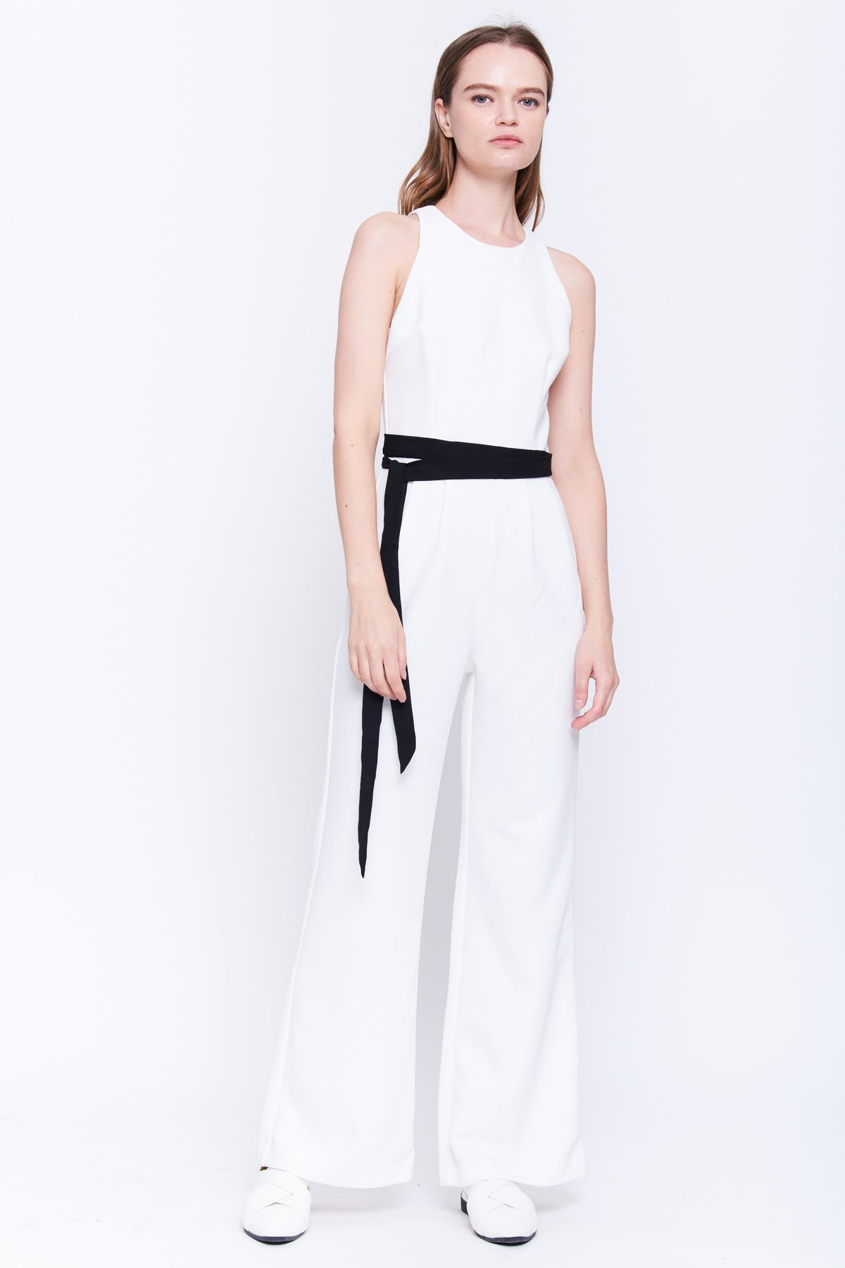 Wide Leg Jumpsuit In White