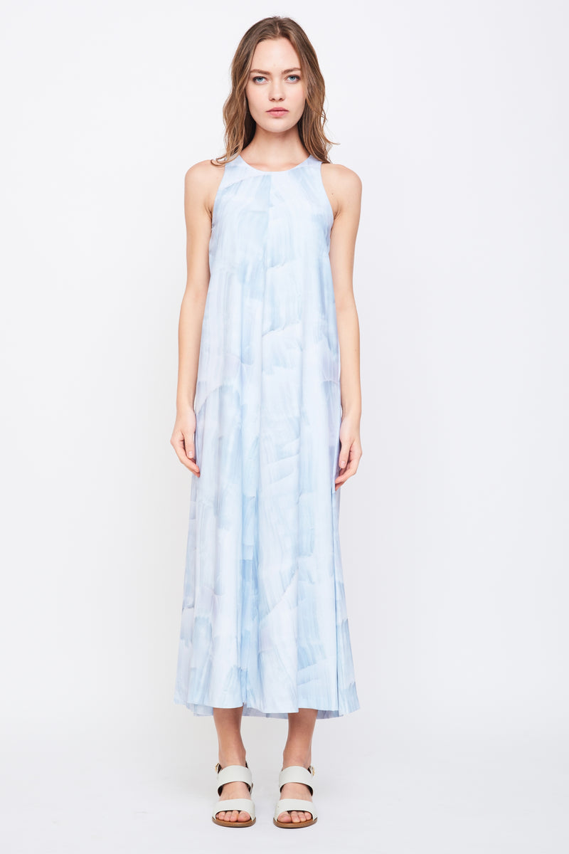 Sleeveless Maxi Dress In Print