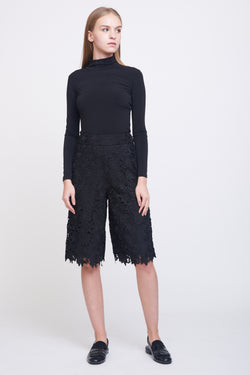 Lace Culottes In Black