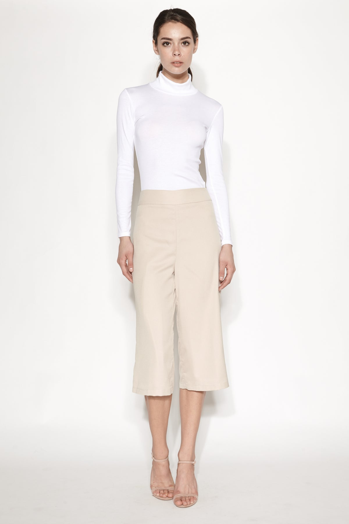 Tailored Culottes in Beige