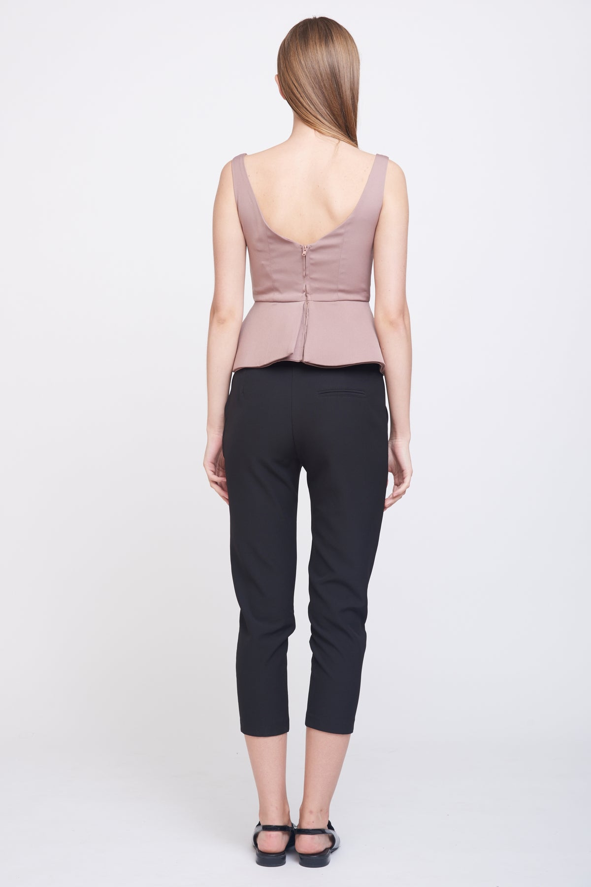 Peplum V Neck Top
