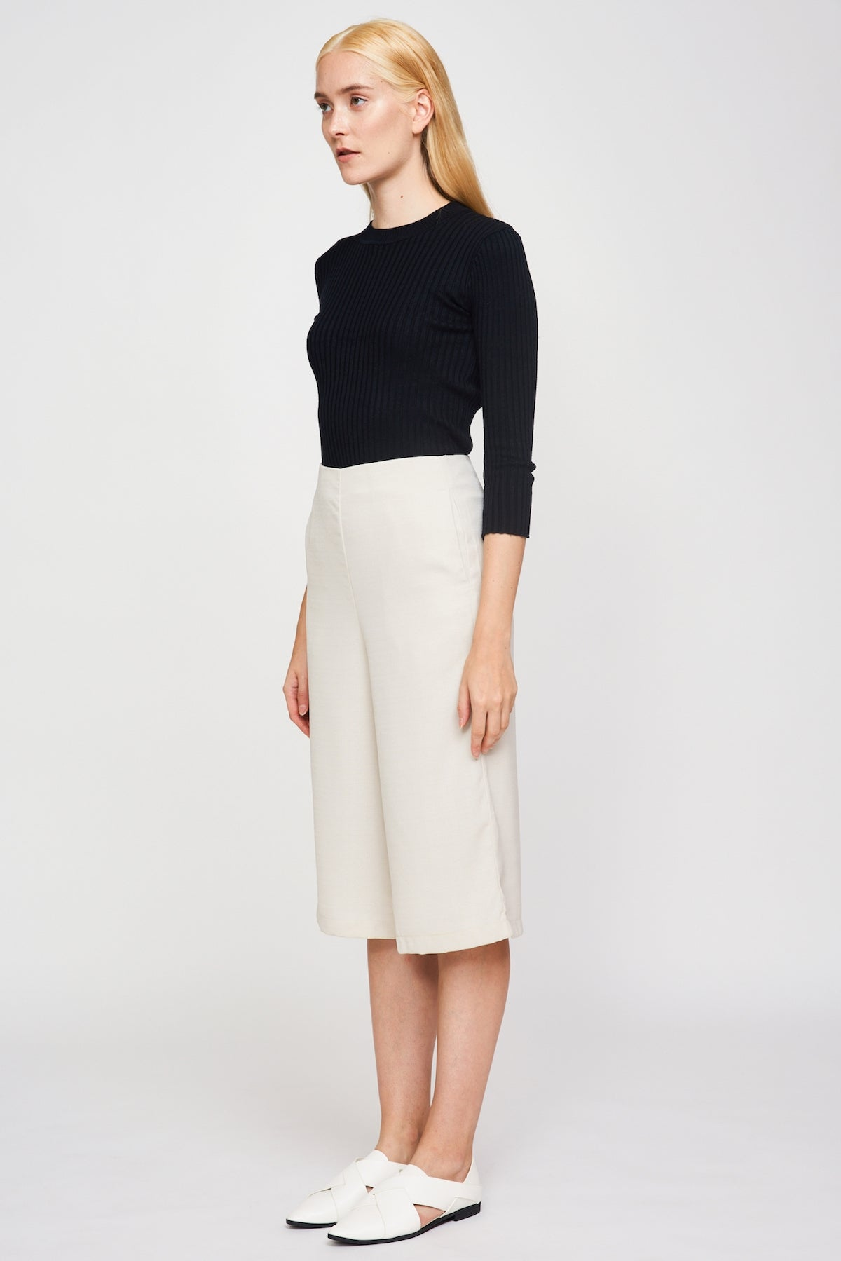 Basic Culottes In Cream