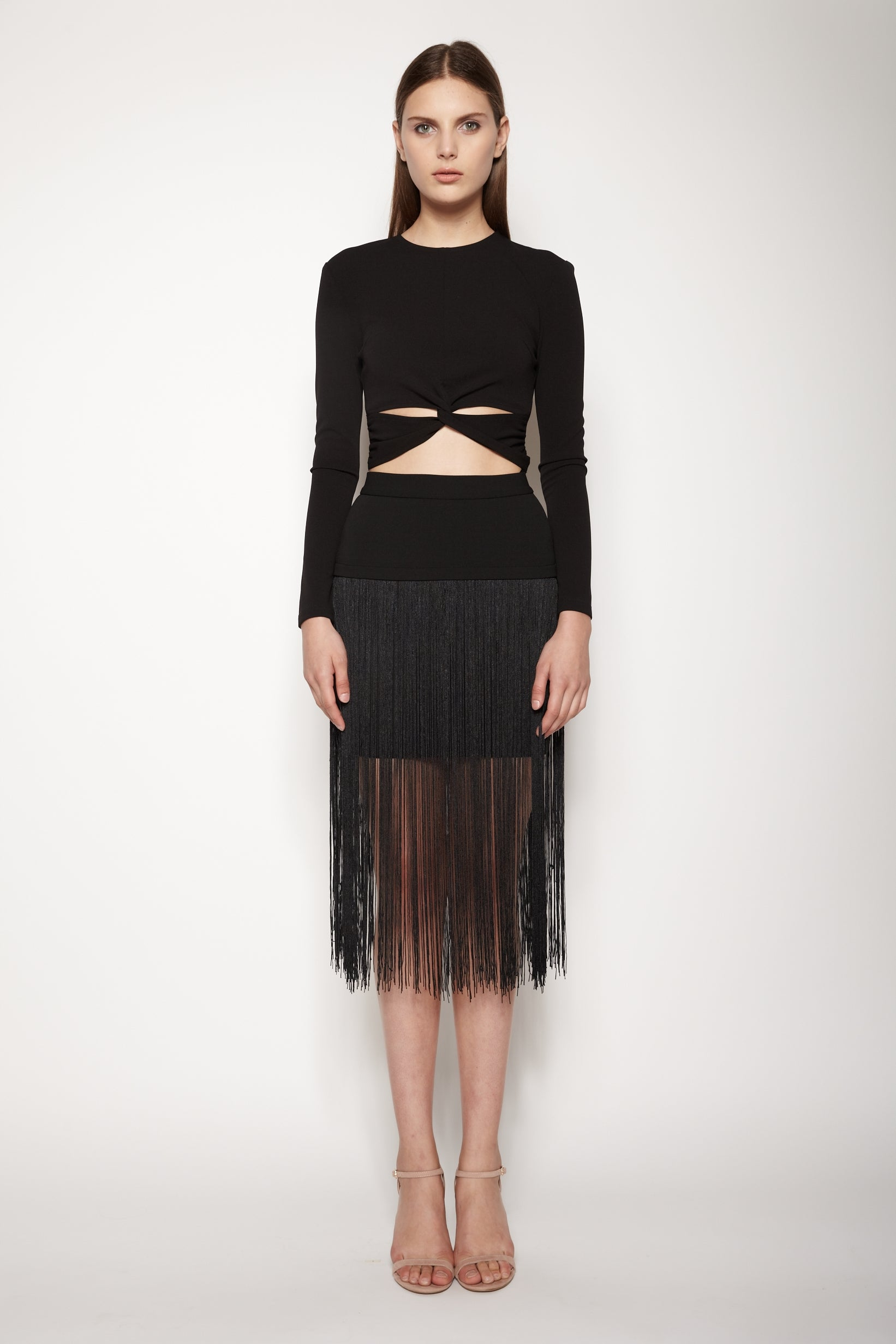 Fringe Skirt In Black