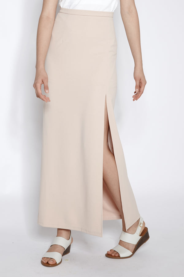 Slit Maxi Skirt In Blush