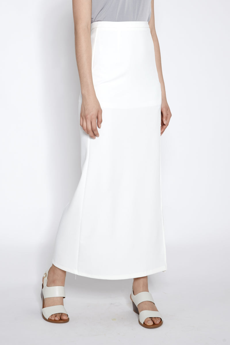Slit Maxi Skirt In White