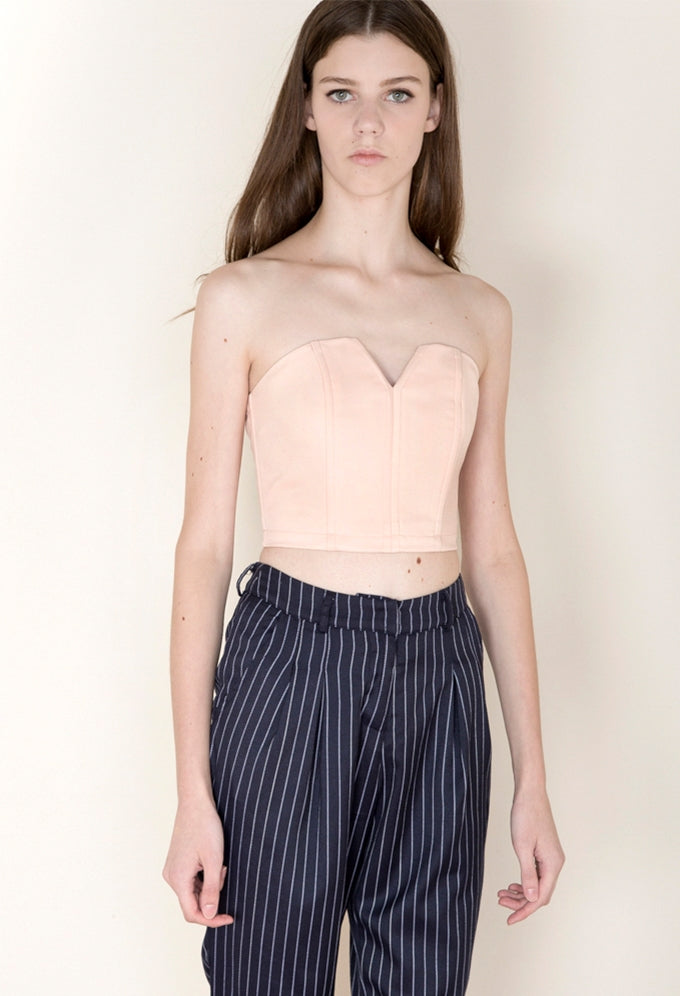 Structured Bustier in Pale Rose