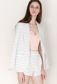 Tailored Blazer in Pinstripe