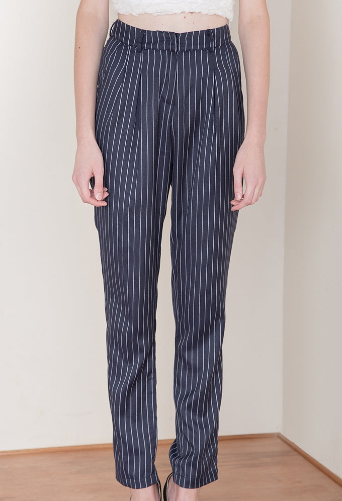 Tailored Trousers In Pinstripe