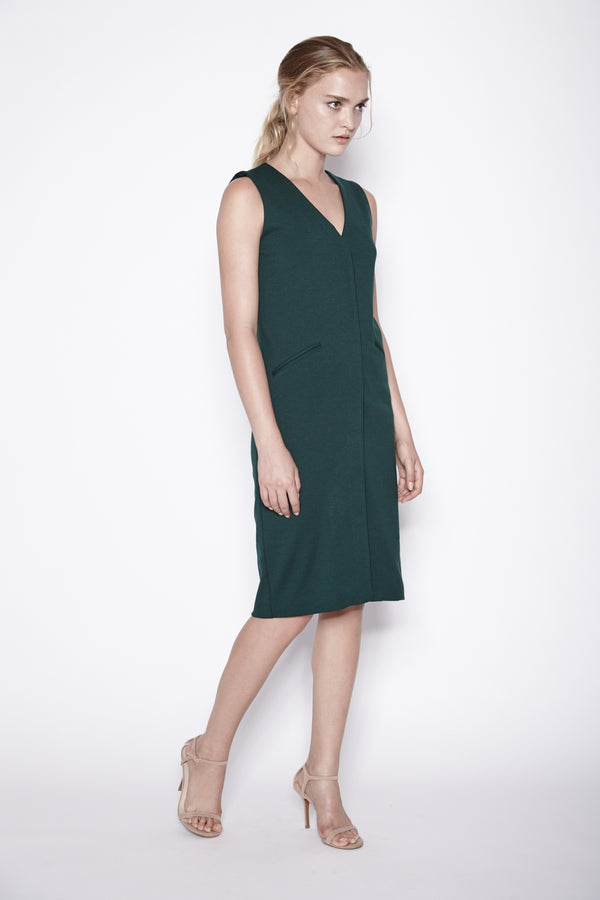 Vest Dress In Emerald