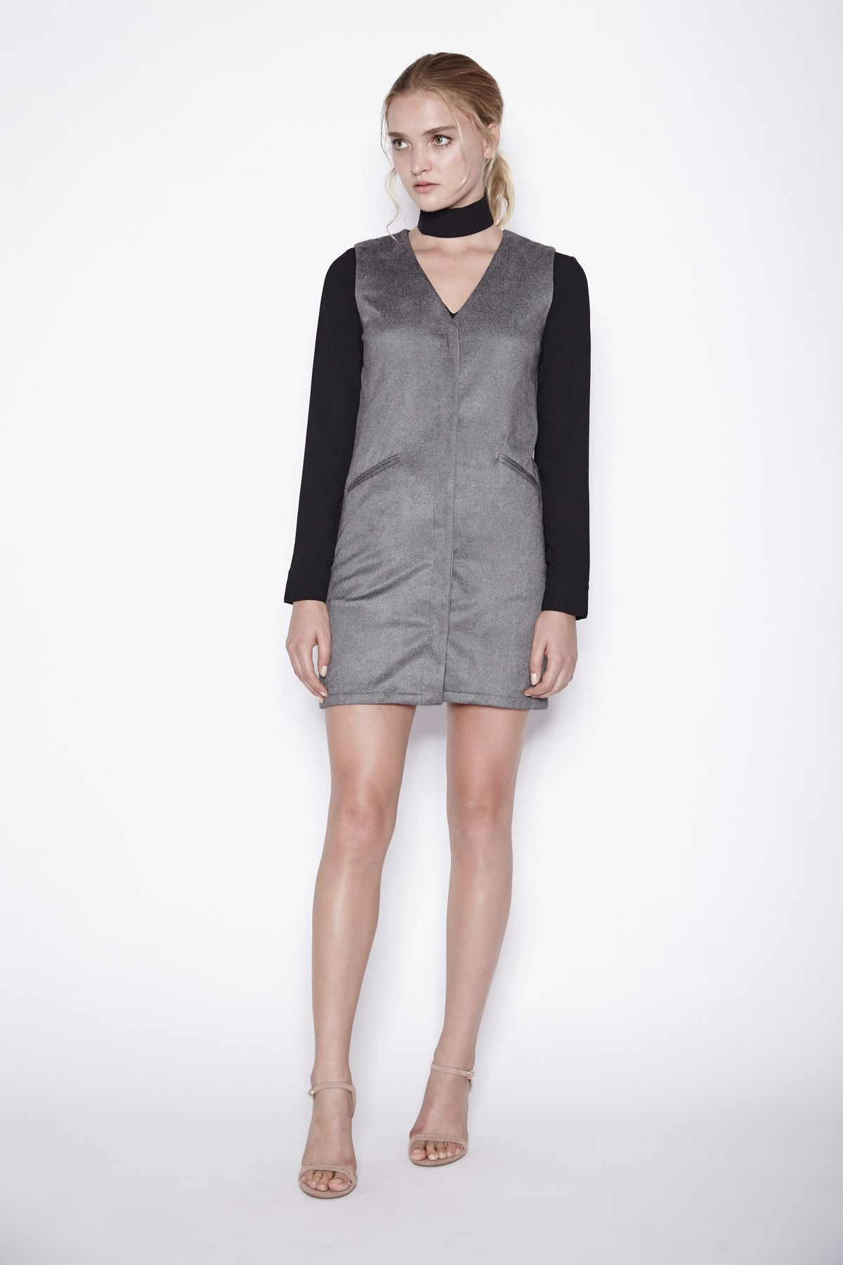 Vest Dress In Grey