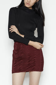 Wave Skirt In Burgundy