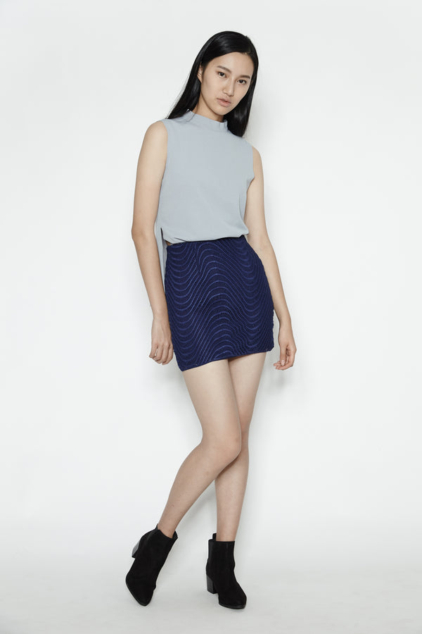 Wave Skirt In Navy