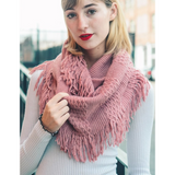 Beautiful Pointelle Fringe Infinity Scarf - Comes in 5 Colors - Free Shipping Pros