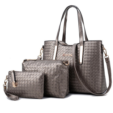 Limited Time Sale Luxury Women Designer Handbags On Sale High Quality Brand Ladies Plaid Shoulder Messenger Clutches Bags Set Sac A Main Femme De Marque - Free Shipping Pros