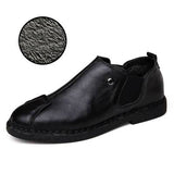 Leather Shoes Warm Winter Men Casual High Quality Dress Men Loafers - Free Shipping Pros