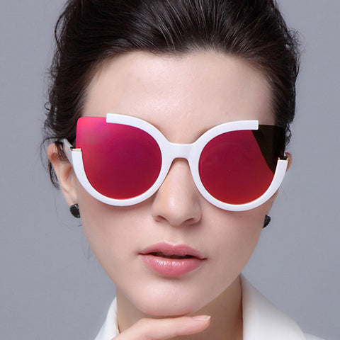 Round Shade Summer Fashion Sunglasses Women Vintage Brand Designer Cateye Sun Glasses For Ladies - Free Shipping Pros