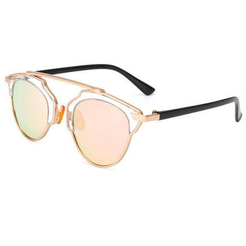 ROYAL GIRL TOP Quality Women Brand Designer Sunglasses Round Mirror Shades Summer GLASSES ss267 - Free Shipping Pros