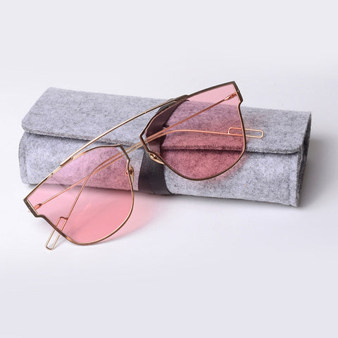 ROYAL GIRL New Women Pink Eyeglasses Vintage Sunglasses Hot brand designer Sun shades pouches included ss304 - Free Shipping Pros