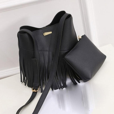 Your Tassels Women Messenger Bags cross body Fashion Leather Hobo Clutch Handbags Shoulder Tote - Free Shipping Pros