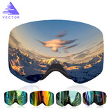 VECTOR Professional Goggles Double Lens UV400 Anti-fog Adult Brand  Women Men Eyewear - Free Shipping Pros