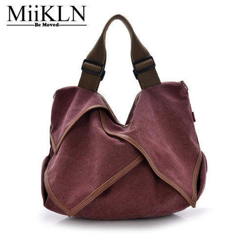 NEW Solid Women MiiKLN Bags For Women Casual Tote Blue Red Black Women Handbags  Female Crossbody Shoulder Lady Fashion Bags - Free Shipping Pros