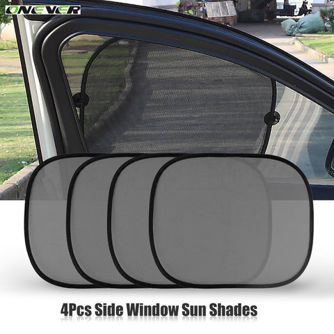 Onever 2pcs/set Black Car Sun Shade Visor Shield Side Window Sunshade Cover Mesh Screen Solar UV Protection - Free Shipping Pros