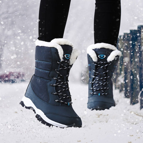 Women winter snow water proof platform boot  with thick fur size 35 - 41 - Free Shipping Pros