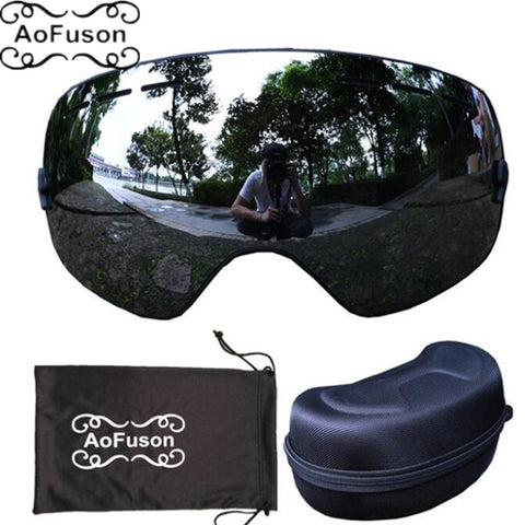 Box case double layers anti-fog lens big vision mask glasses motocross women men - Free Shipping Pros