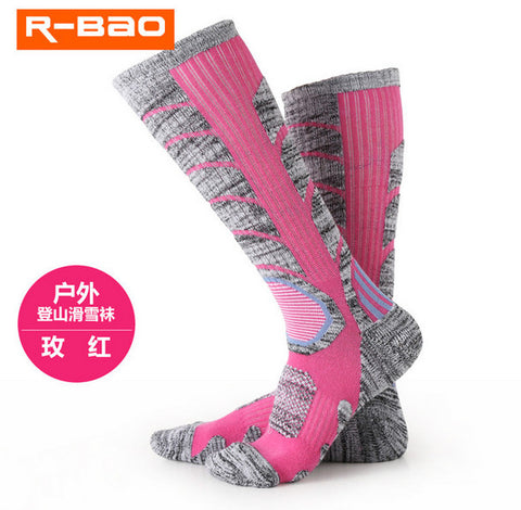 3 Pair Cotton Ski Hiking Outdoor Women's Sports Socks Spring Winter Fit to Size 35-39 - Free Shipping Pros