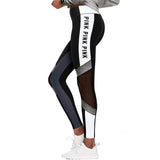 Women Love Pink Letter Print Workout Leggings High Waist Slim VS PINK Legging Sporting Adventure Time - Free Shipping Pros