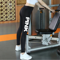 Women High Waist Slim Vs Pink Legging Women Love Pink Print Workout Leggings Sporting Adventure