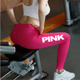Women High Waist Slim Vs Pink Legging Women Love Pink Print Workout Leggings Sporting Adventure - Free Shipping Pros