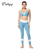 Pureyiyi 2Pcs Women Yoga Fitness Sport Bra+Yoga Pants Leggings , Gym Running Sport Workout Clothes - Free Shipping Pros