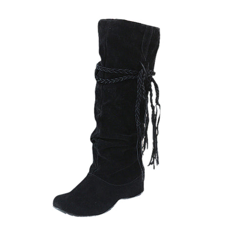 Women Heighten Platforms Thigh High Tessals Boots Motorcycle Shoes - Free Shipping Pros