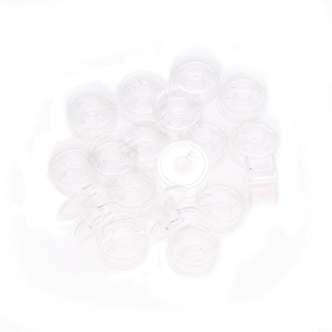 Lots 20pcs Clear Plastic Empty Bobbins For Brother Janome Singer Sewing Machines - Free Shipping Pros