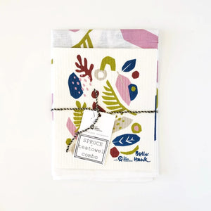 Spruce Dish Cloth & Tea Towel Set - Spring
