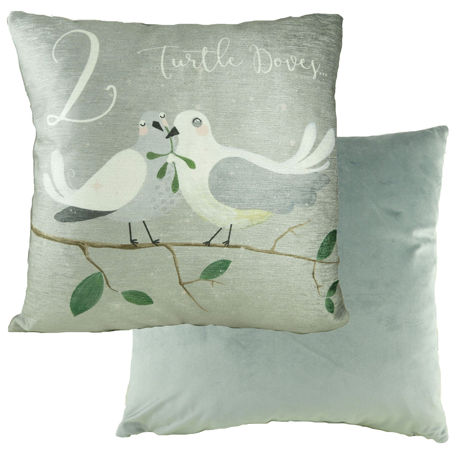 2 Turtle Doves 12 Days Cushion