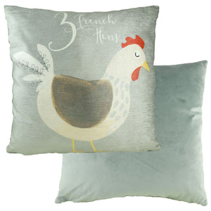 3 French Hens 12 Days Cushion