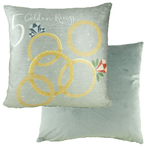 5 Gold Rings 12 Days Cushion