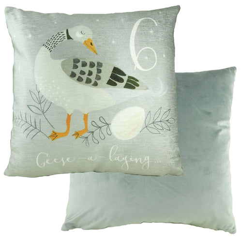 6 Geese Laying 12 Days Cushion