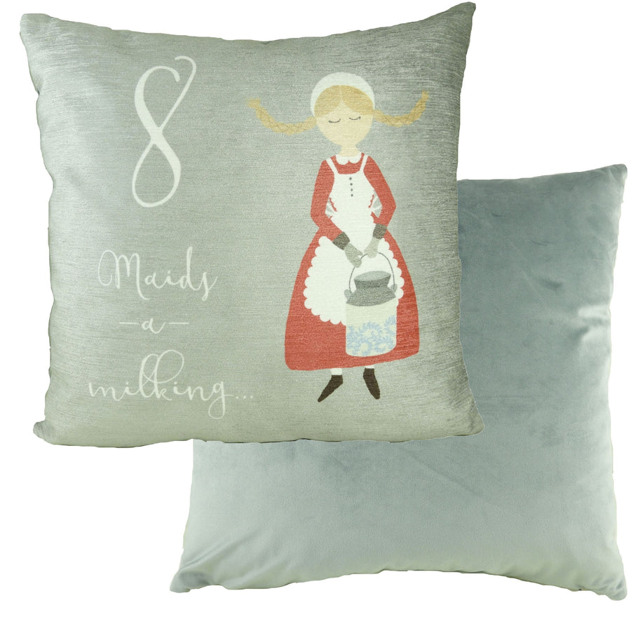 8 Maids Milking 12 Days Cushion
