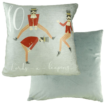 10 Lords Leaping 12 Days Cushion