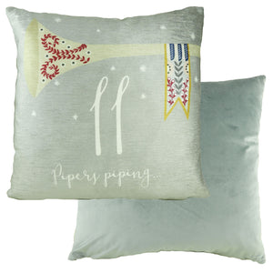 11 Pipers Piping 12 Days Cushion