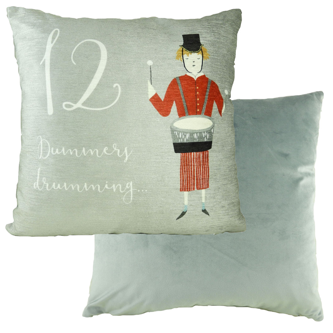 12 Drummers Drumming 12 Days Cushion