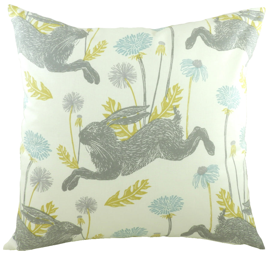 March Hare Duck Egg Cushion