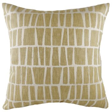 Anelli Geo Ochre Cushion