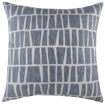 Anelli Geo Blue Cushion