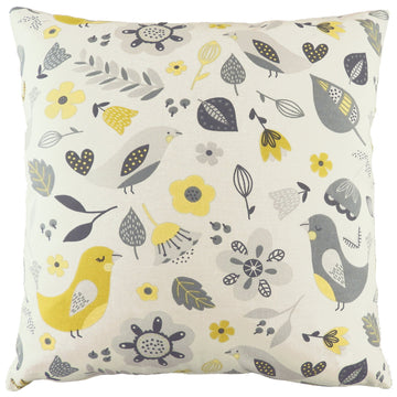 Annika Birds Ochre Cushion