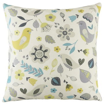 Annika Birds Teal Cushion