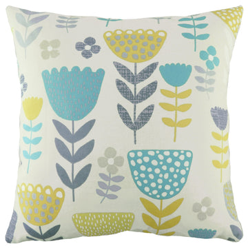 Annika Tulip Teal Cushion